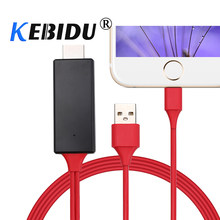 Kebidu 1080 P HDMI кабель для Lightning/HDMI HD ТВ адаптер для видеоигр Дисплей для Iphone 6 7 8 Android-смартфон(China)