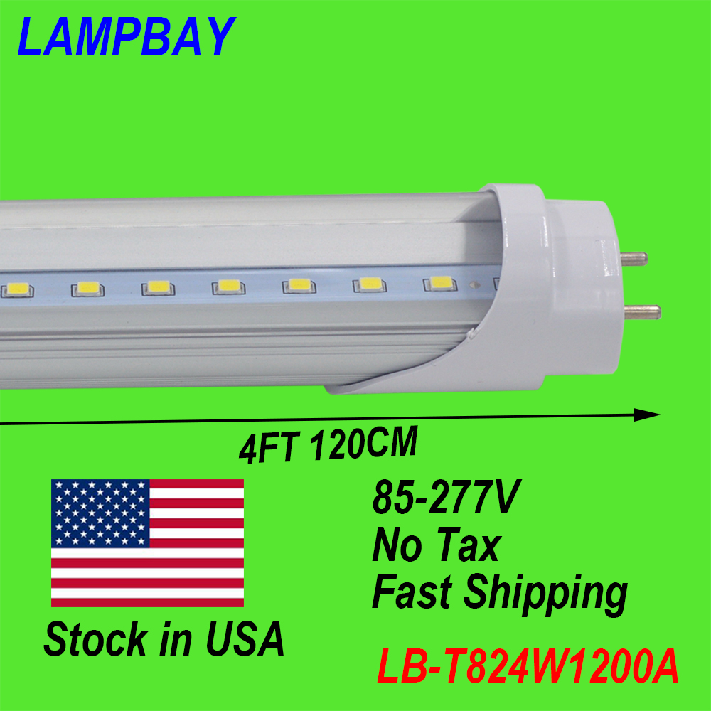 (120 Pack) Free Shipping LED TUBE 4FT 120cm 24W T8 G13 Bulb work into existing fixture 85-277V Stock in USA NO Tax<br><br>Aliexpress