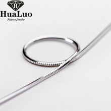 New Female Fashion 925 sterling silver Soft and Smooth octagonal snake Chains Necklaces fashion jewelry for women CJQ00133