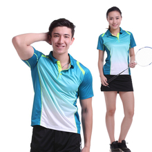 Women/Men table tennis clothes team game training short sleeve POLO T Shirts Sportswear Quick Dry breathable badminton shirt(China)