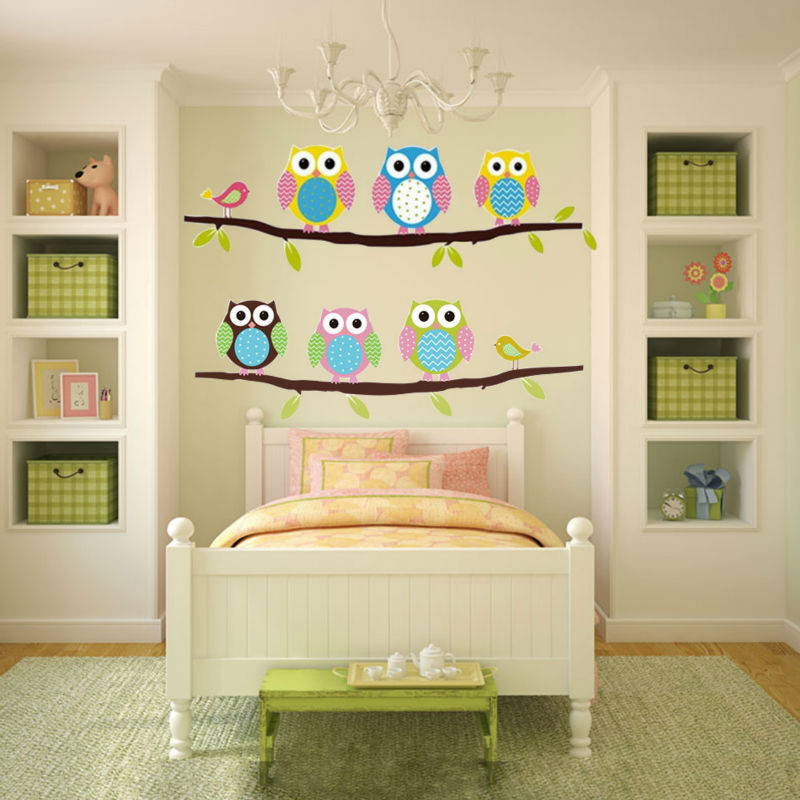 Owl Wall Stickers For Kids Rooms A16 (1)