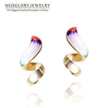 Neoglory Gold Plated Enamel Drop Earrings Teen Girl Statement Indian Jewelry Love Birthday Gifts 2017 New Fashion Brand ENA1