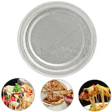 Aluminum Flat Mesh Pizza Screen Round Baking Tray Net Kitchen Tools Hot(China)