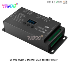 LTECH LED driver LT-995-OLED 5-channel DMX decoder for RGB/RGBW led strip lamp DC12-24V 6A*5CH Max 30A output(China)