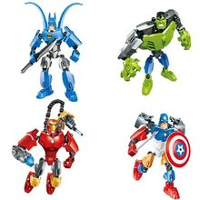 1pcs Marvel Character Brave Man Building Bricks Blocks Sets Christmas gifts Toy Compatible with Lepine(China)