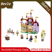 Bevle Store LEPIN 01010 384Pcs Friends series Belle princess's castle of magic Model Building Blocks For  Children Toys 41129