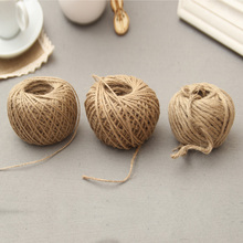 Jute Twine  Natural Sisal 1mm,2mm Rustic Tags Wrap Wedding Decoration Crafts Rope String Cord Events Gift Packaging Supplies