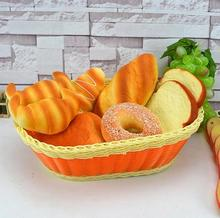 Free shipping Simulation Bread Model B set Photography Decoration Supplies kitchen furnishing articles Plastic Crafts Food toys