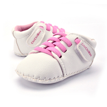 Baby Boy Girl Shoes For 0-24 Months PU Leather Cross-tied Infant Non-skid Crib Shoe Spring&Autumn Casual Sneaker(China)