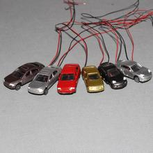 12PCS 1:100 TT Scale Model Lighted Car With 3v -12v LED Lights for Building Layout  EC100  railway modeling