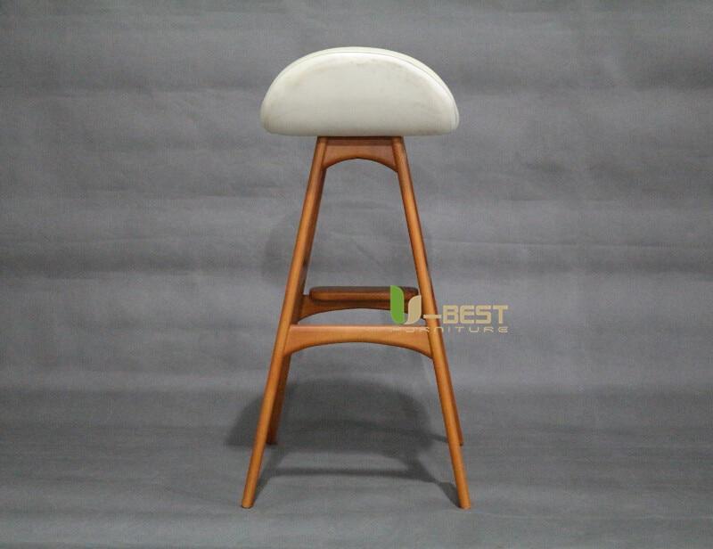 erik buch bar chair counter chair white PU cushion shining u-best furniture (4)