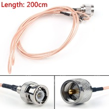 Sale 200cm RG316 Cable BNC Male Plug To PL259 UHF Male Crimp Jumper Pigtail 6ft FPV High Quality Mini Jackplug Wire Connector