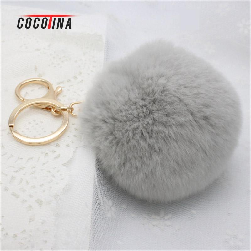COCOTINA Cute Popular Keychain Imitation Rabbit Fur Keychain Fashionable Female Mobile Phone/bag Pendant Accessories D02515(China)