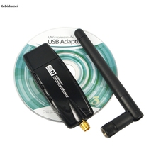 Kebidumei 300 Mbps Wireless Adapter USB 2.0 WiFi Network Lan Card With Antenna Realtek for windows XP Vista 7 8 Linux MAC OS(China)
