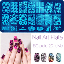 1pc Lace Flowers Nail Art Stamp Konad Stamping Image Plate 6*12cm Stainless Steel Template Polish Manicure Stencil Tool 2017(China)