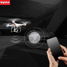 SYMA Aircraft Wide Angle Lens HD Camera RC Drone WiFi FPV Live Flashing Helicopter Hover remote control aircraft dec26(China)
