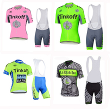 New design breathable cycling jersey bib short sleeveless maillot cullot 3D gel pad  biking clothes bike apparel wear italy ink