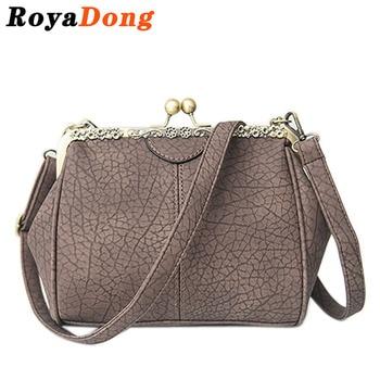 RoyaDong 2017 Winter New Women Crossbody Bags For Women Messenger Bags Shoulder Bags Pu Scrub Leather Vintage