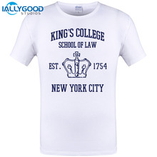 2017 Hot sales Short Sleeve HAMILTON BROADWAY MUSICAL King's College School of Law Est. 1754 Greatest City in the World T-Shirt