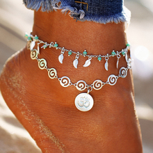 Buy Bohemian Geometric Anklet Bracelet Leg Fashion Silver Color Leaf Anklets Women Foot Jewelry Beach Ankle Bracelet Gift ) for $1.35 in AliExpress store