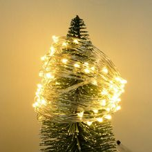 10m Copper Silver Wire LED String lights Waterproof lighting For Fairy Christmas Tree Decoration(China)
