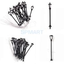 Free Shipping Single Head Garden Lamppost Lamp 20pcs 1/100 Model Layout(China)