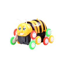 ZTOYL 1 pcs New electric toy car small bee 12 round dump truck automatic flip children electric car toys(China)