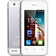 "Original Melrose S9 MTK6572 Dual Core 2.4"" Android 4.4 Mini 3G Cell Phone WiFi Bluetooth 4GB ROM Ultra-thin Pocket Card Phones(China)"