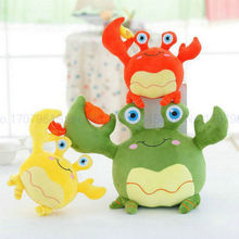colorized Sea Crab Cloth doll stuffed plush animals doll kids toys 20/35cm kawaii Crab Plush Toys red/green/yellow new year gift