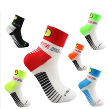 High Quality Brand New Men's Cycling Socks Bike Bicycle Crew Socks Sports Socks(China)