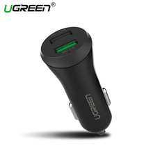 Ugreen Dual USB Car Charger Qualcomm Quick Charge 2.0 Mobile Phone Car-charger for iPhone 7 Samsung Xiaomi Car Phone Charger
