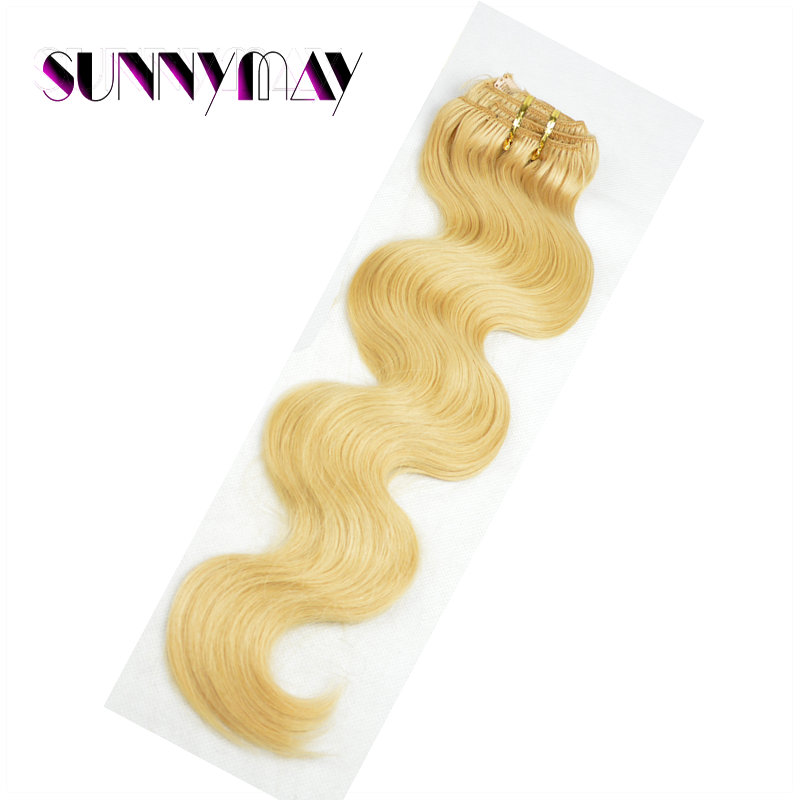Clip In Body Wave Hair Extensions Brazilian Virgin Clips Hair Full Head Clips In Human Hair Extensions Blonde Body Wave Bundle<br><br>Aliexpress