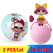 2 PCS/ Set LOL Surprise Doll Magic Funny Removable Egg Ball Doll Toy Educational Novelty Kids Unpacking Surprise Dolls Girls Toy