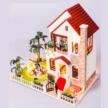 Diy Miniature Doll House big Include Furniture 3D Wooden Puzzle Dollhouse For Birthday Gift Toys D003(China)