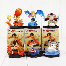 6pcs/lot 5-7cm One Piece Figure Toy Ace Marco Edward Newgate Whitebeard Q Version Model Dolls for Children