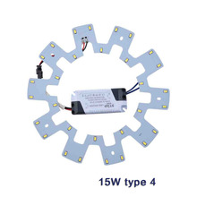 Ceiling Lights DIY LED Light Source PCB Board 7W 10W 15W 20W 5730 110V 220V Kit+Driver for Round Kitchen Bedroom LED Panel Light