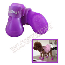 Candy Color Waterproof Dog Accessory Foot Protective Rubber Pet Rain Shoes Boot Booties For Puppy Pet SML
