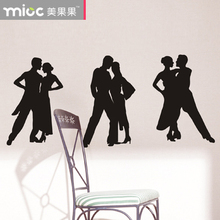 Free shipping Dance design wall stickers yoga fitness decoration sticker shop glass decals