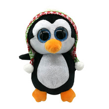 "Original 6"" 15cm TY Beanie Boos Penelope Christmas Penguin Plush Stuffed Animal Collectible Doll Toy 2017 New Birthday Gifts(China)"