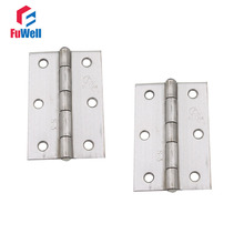 10pcs 2.5'' Door Butt Corner Hinge 304 Stainless Steel Furniture Hardware Hinges for Cabinet Kitchen Folding Hinges(China)