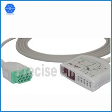 Compatible Maqute 2017006-001 ECG cable 10 lead set ECG trunk cable Multi-Link Rectangle 11 pin to 10 leads AHA color code