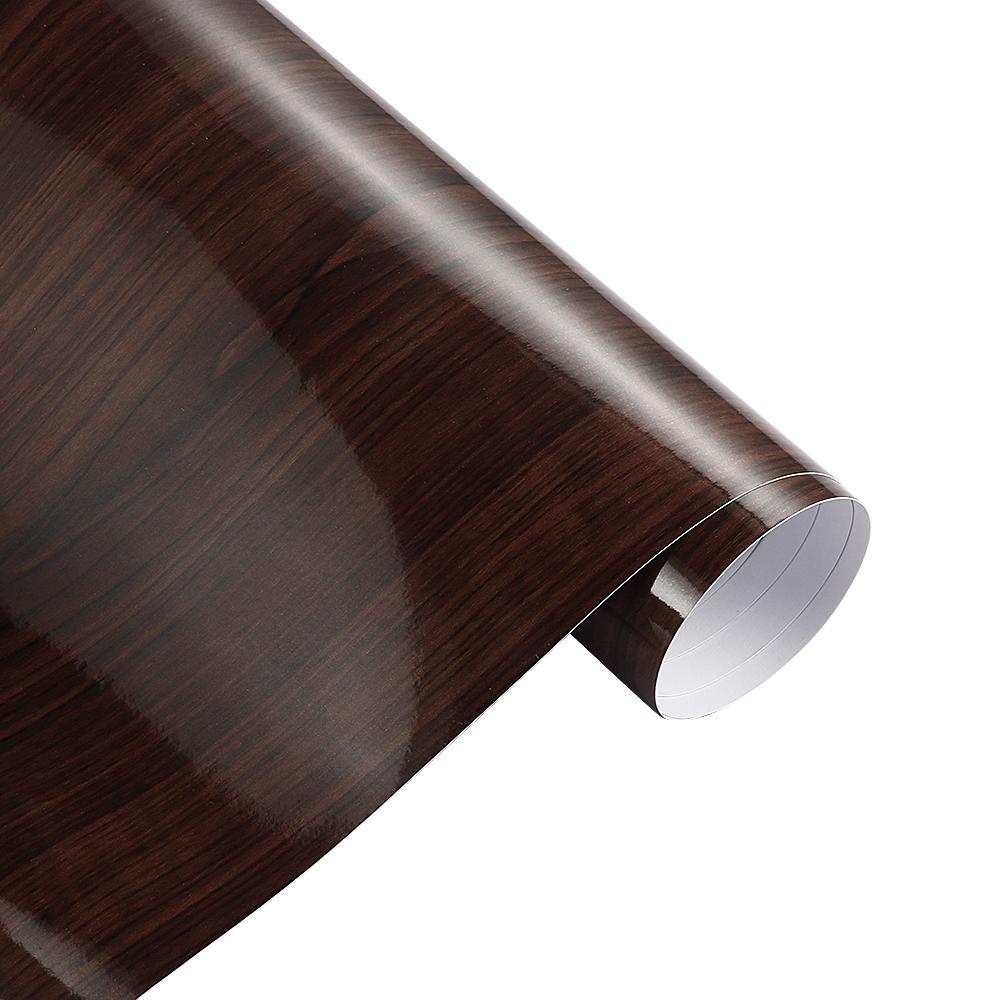 30x100cm Glossy PVC Wood Grain Car Wrap Film ;