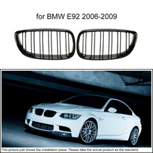 KKmoon One Pair of Car Gloss Black Front Grille Decoration Grilles for BMW E92 2006-2009(China)