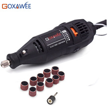 GOXAWEE 110V Electric Drill Rotary Tool Variable Speed Mini Drill with 10pcs Accessories Power Tools For Dremel Tools Accessory(China)