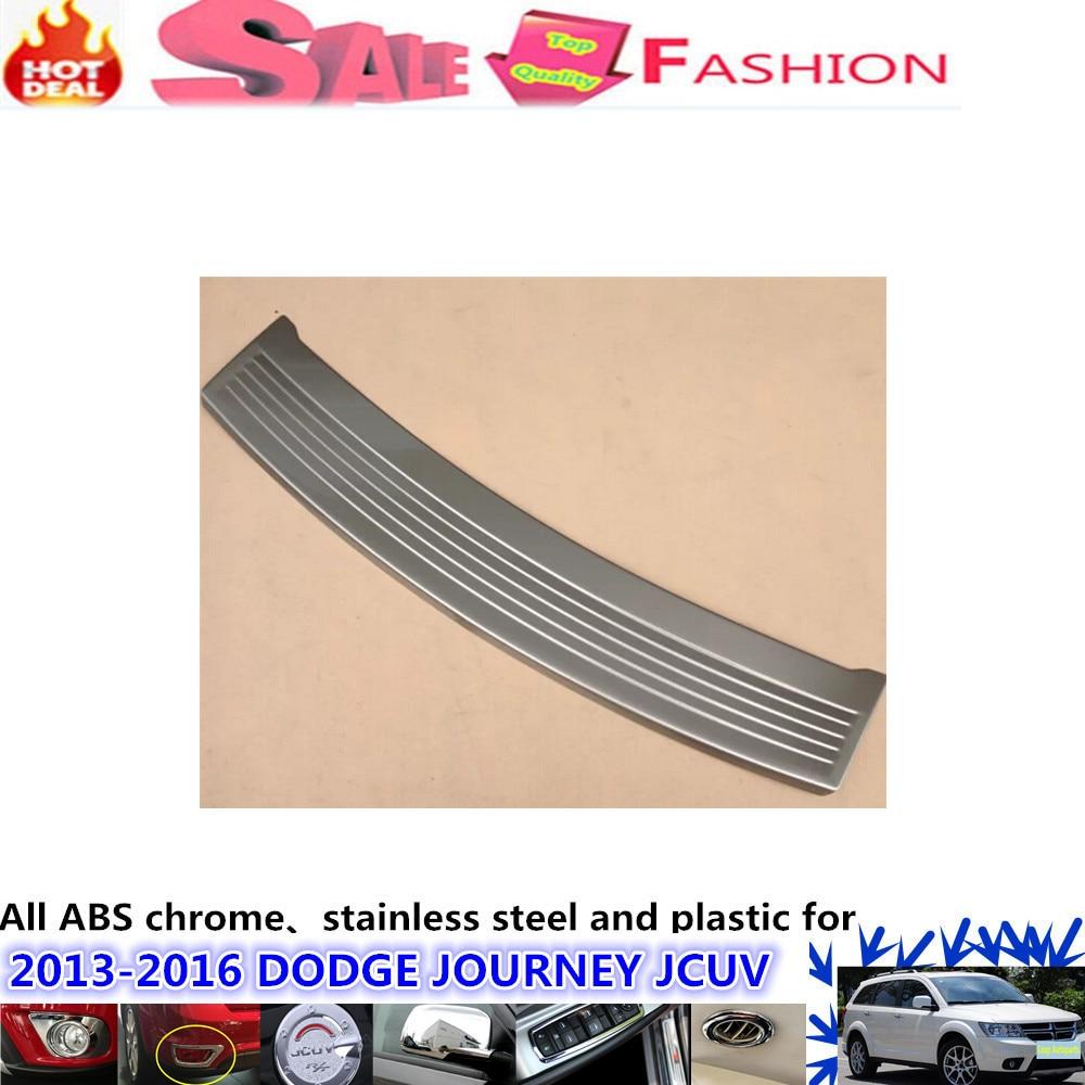 D0DGE Journey JCUV 2013 2014 2015 2016 Car body external Rear Bumper trim Stainless Steel Scuff Sill trunk plate pedal 1pcs<br><br>Aliexpress