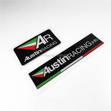 Car Styling Austin Racing Italy AR Exhaust Reflective Stickers for Car Motor Helmet etc