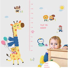 DIY Removable Height Chart Measure Wall Sticker Decal for Kids Baby Room Giraffe UP(China)