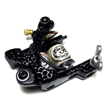 Profession 10 Wrap 28mm Copper Coils Tattoo Machine Gun Steel with 5pcs tattoo liner spring + 5pcs tattoo shader spring