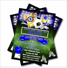 20 pcs Personalized Birthday invitation for kids Football Birthday Party decoration supplier Baby Shower Invites free shipping
