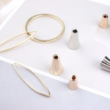 Copper fittings DIY earrings necklace bracelet jewelry material circular circular frame Horn Pendant receptacle